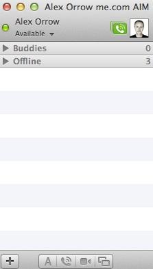 Apple Messages buddy list