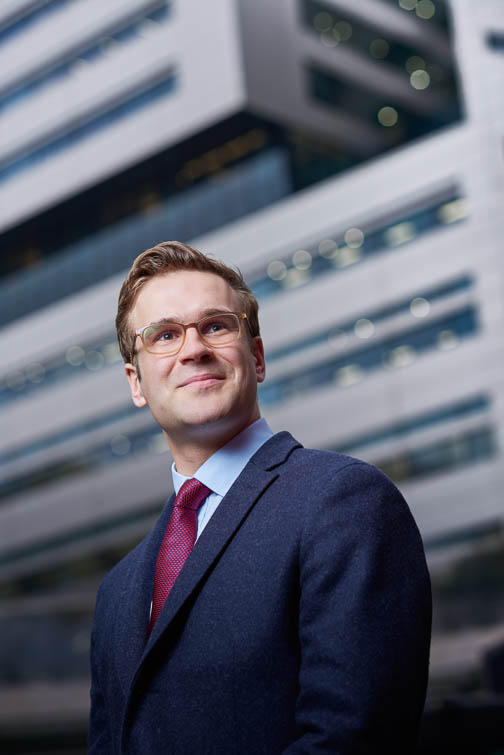 Corporate portrait of executive in London