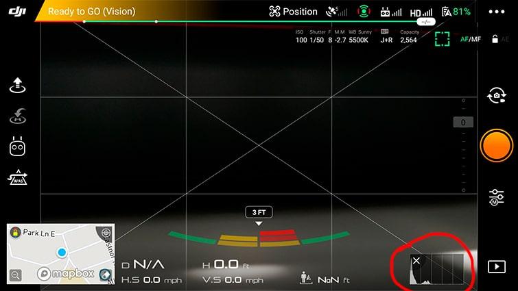 DJI-Camera-Settings Screenshot