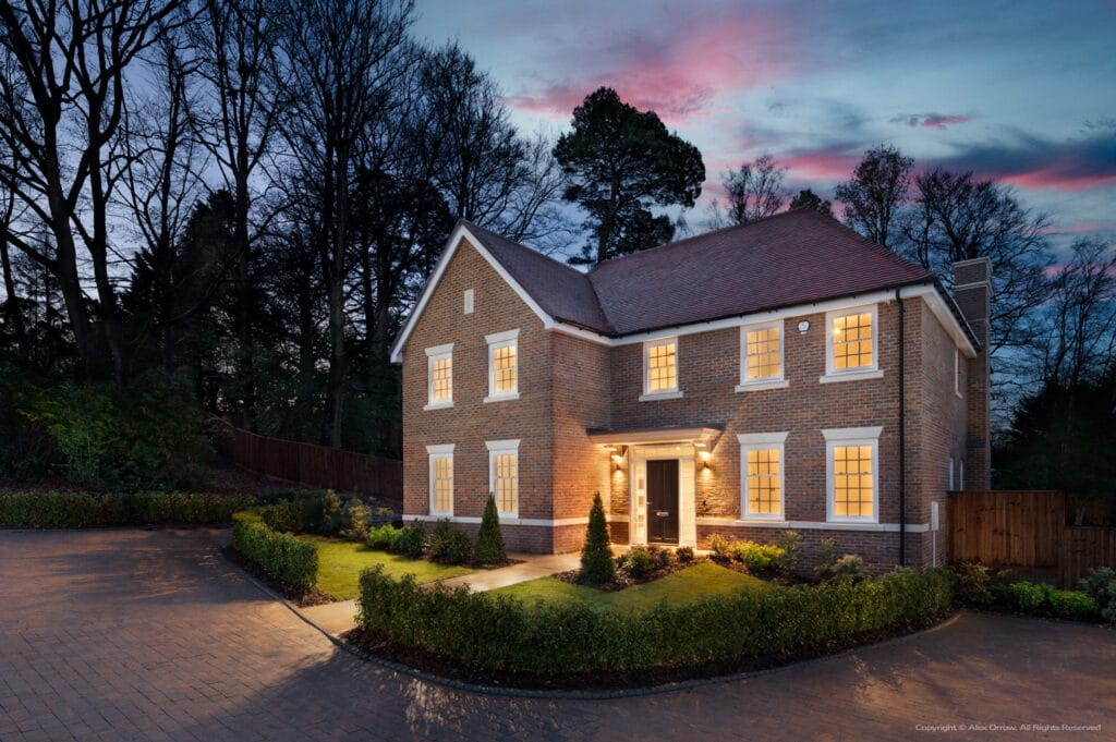 Ascot residence at twilight