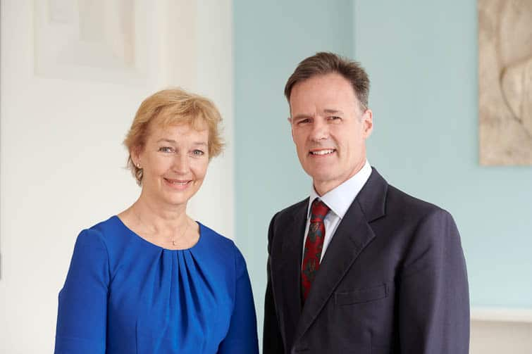 Whitley Asset Management Corporate Photography - Edward Whitley OBE and Louise Rettie