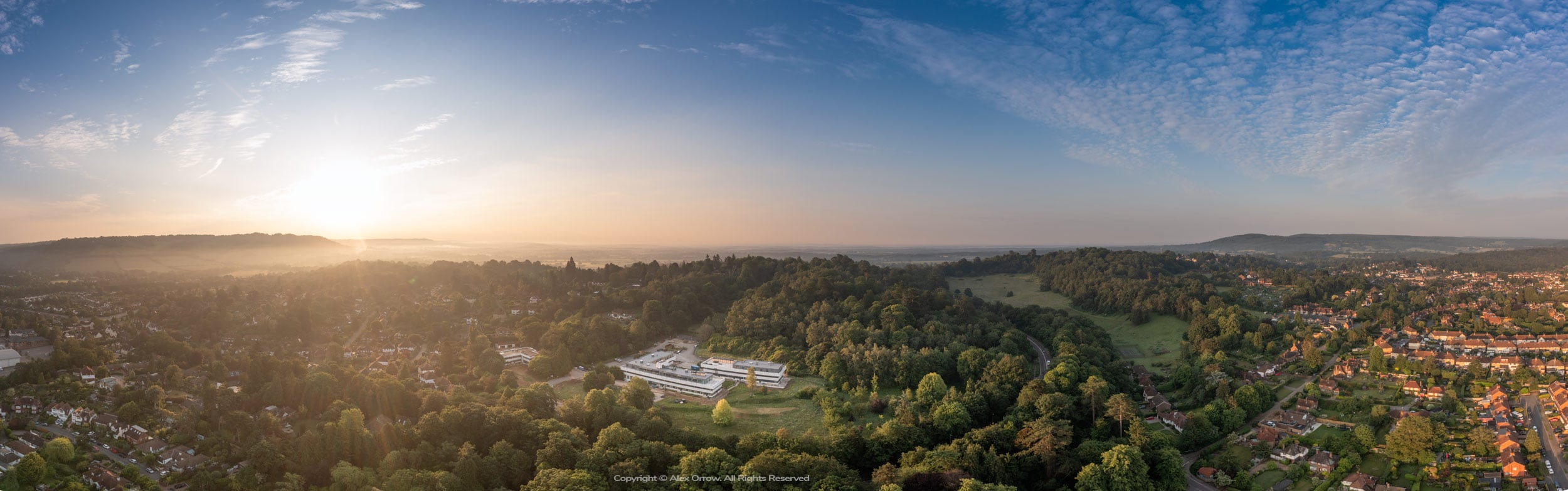 Drone Dorking Town and Deepedene